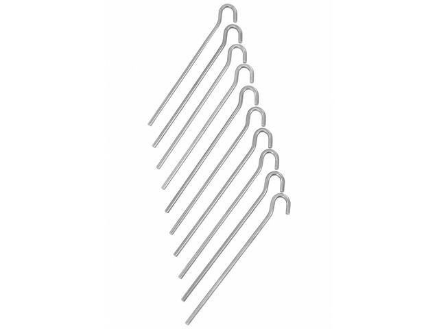 CAMPZ Aluminium Ground Peg 18cm Straight silver